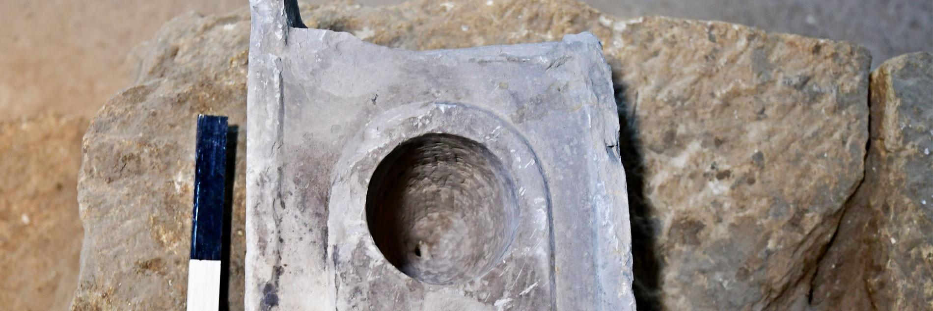 אתר מורשת לאומית עיר דוד: נחשף חפץ נדיר ששימש למדידה אחידה של נפח