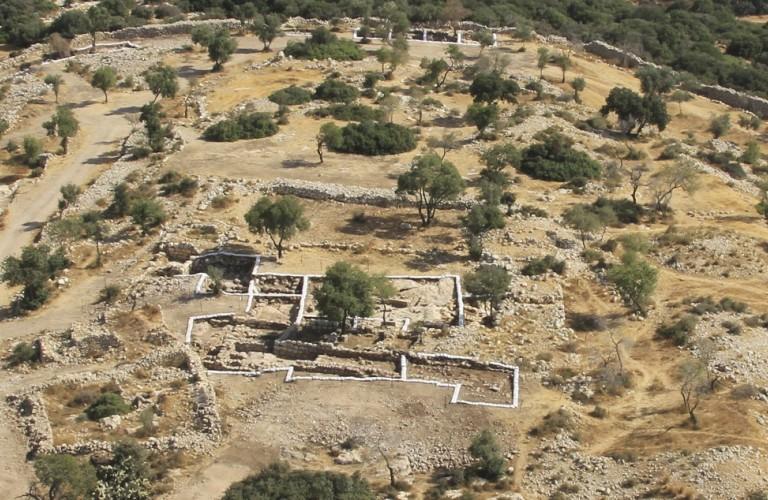 תל קייאפה - צילום: Skyview באדיבות האוניברסיטה העברית ורשות העתיקות