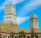 הדמיית ארמון הורדוס והמגדלים באזור מגדל דוד